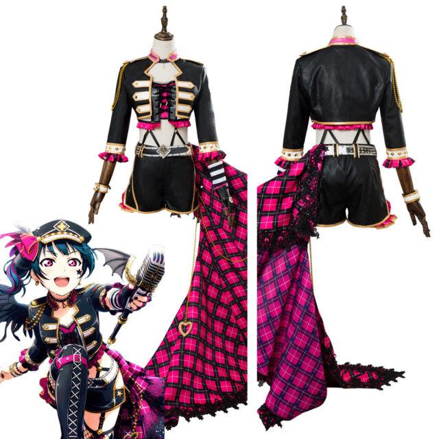 LoveLive Aqours Rock Awakening Kurosawa Dia Punk Stage Dress Cosplay Costume