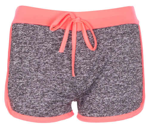 Womens Fleck Gym Summer Holiday Hot Pants Ladies Workout Runner Shorts