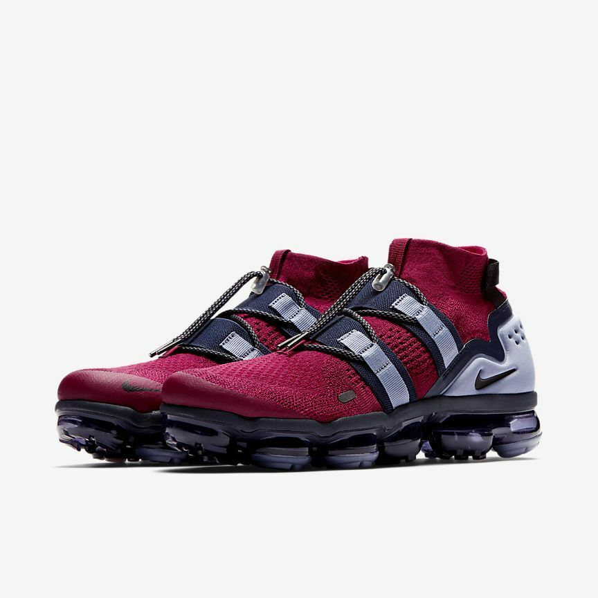 NIKE AIR VAPORMAX FK UTILITY TEAM RED BLACK-OBSIDIAN  US MEN SZ 10.5