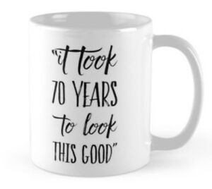 Image Is Loading 70 70th Birthday Small Gift Idea Funny Mug