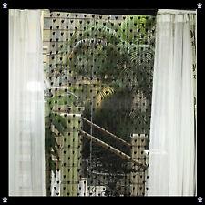 Vorhang Gardine Türvorhang Fadenstore Raumteiler Deko Herzen Herz Schwarz Gothic