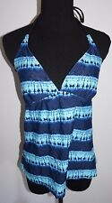 Converse One Star Aqua Blue Tie Dye Tankini Swim Suit Top Sz L