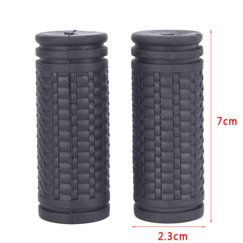2pcs Bicycle Grips Short Handle Rubber Non Slip Cycling Scooter Bike Parts CZ