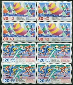 4-x-Bund-1310-1311-postfrisch-Viererblock-BRD-VB-Motiv-Sport-amp-Olympiade-MNH
