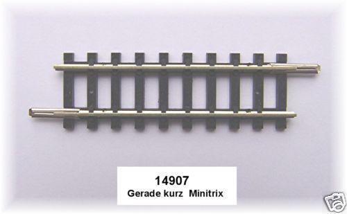 Trix Minitrix 14907 Straight Track 50,0 mm # New - 1 Piece