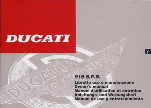 1997 Ducati 916SPS NOS 91370441A original 130 page owners manual mint condition