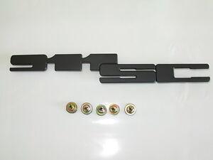 porsche 911 sc black badge emblem 5 speed nuts genuine new ebay. Black Bedroom Furniture Sets. Home Design Ideas