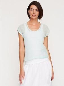 NWT-Eileen-Fisher-Organic-Linen-U-Neck-Crop-Top-NWT-M-LAST-ONE