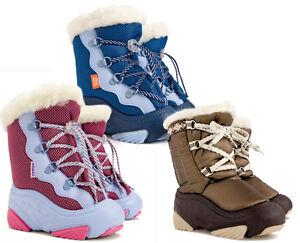 WINTER-BOOTS-WARM-KIDS-Toddler-Baby-Child-Woollen-Fur-Snow-Shoes-Boy-Girl