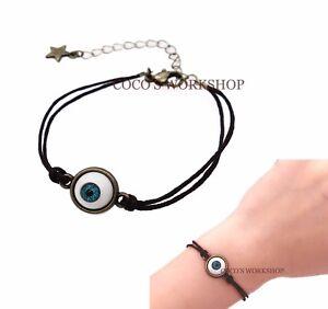Image Is Loading Vintage Bronze Mini Eyeball Bracelet Eye