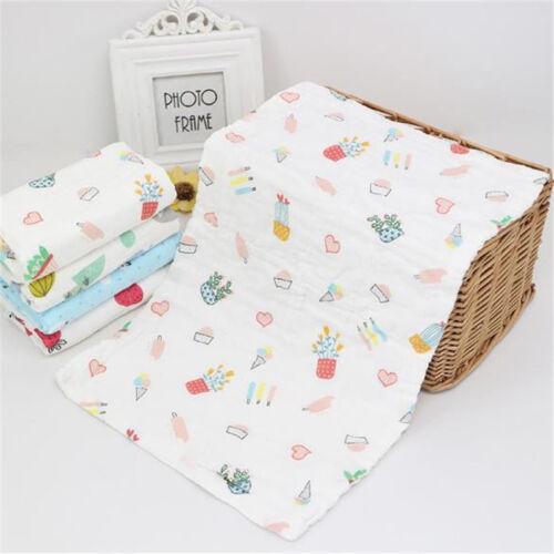 Baby Care Baby Absorbent Blanket Bath Towel Cute Warm Blanket Cotton Gauze FM