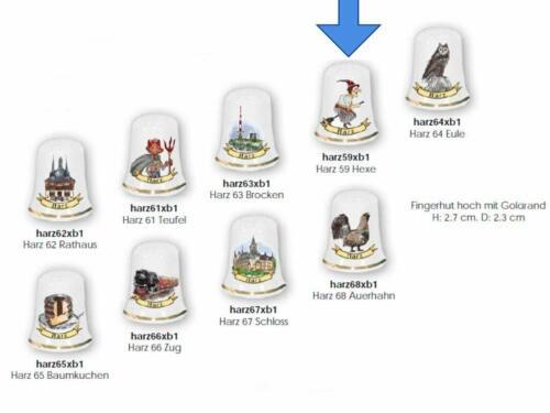 Harz deutsches Produktdesign Porzellan 1X Fingerhut Hexe