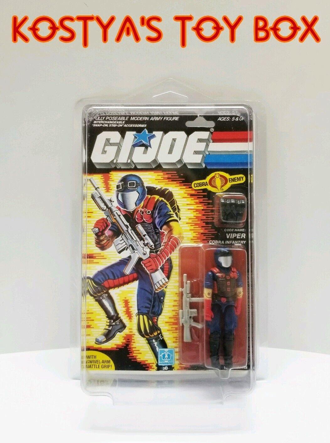 GI Joe Cobra VIPER 1986 MOC MOSC Hasbro Vintage Factory Sealed Action Figure