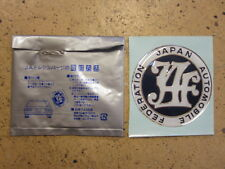 JDM JAF STICKER DECAL EMBLEM BADGE.MUGEN TRD NISMO RE AMEMIYA TOM'S REGISTRATION