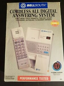 NEW-IN-BOX-BellSouth-10-Channel-Auto-Scan-Cordless-Telephone-Answering-System