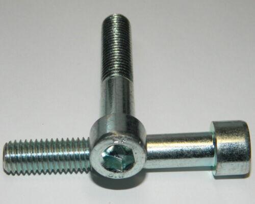 25 Stk Zylinderschrauben M6x40 Stahl verzinkt  DIN912   Innensechskant Schraube