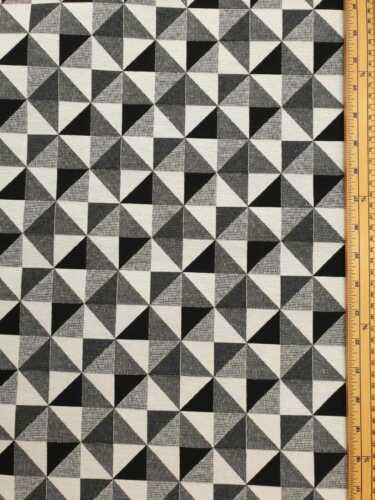 Black White cubes Fabric 80/% Cotton 20/% Poly material metre upholstered finish