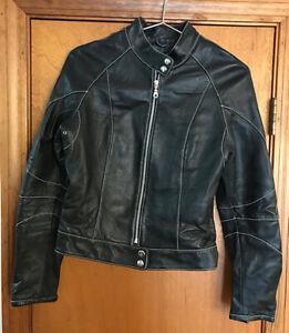 Wilson-039-s-Women-039-s-Black-Leather-Jacket-Size-Medium