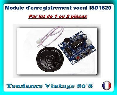 0.5w haut-parleur isd1820 sound voice enregistrement module de lecture