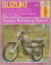 SUZUKI TC / TS 90 100 TS125 TS185 TS250 TS400 1971-1975 OWNERS WORKSHOP MANUAL