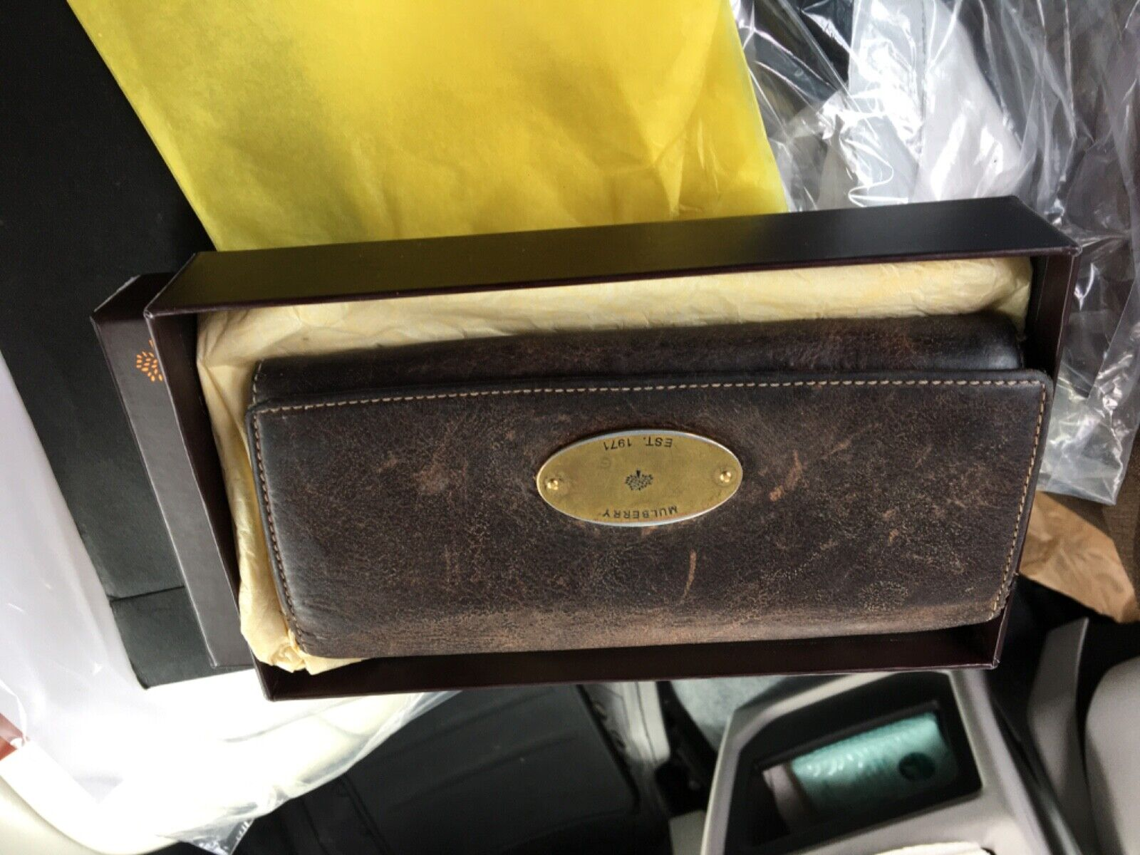 mulberry leather purse/ wallet continental in tan