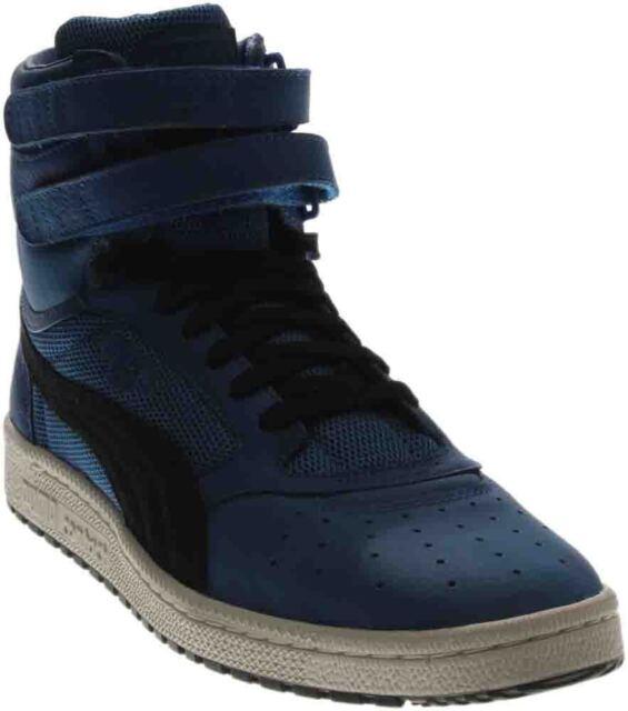 c183d055d8ff PUMA Sky II Hi Colorblocked Leather SNEAKERS 13 Lapis Blue-puma ...