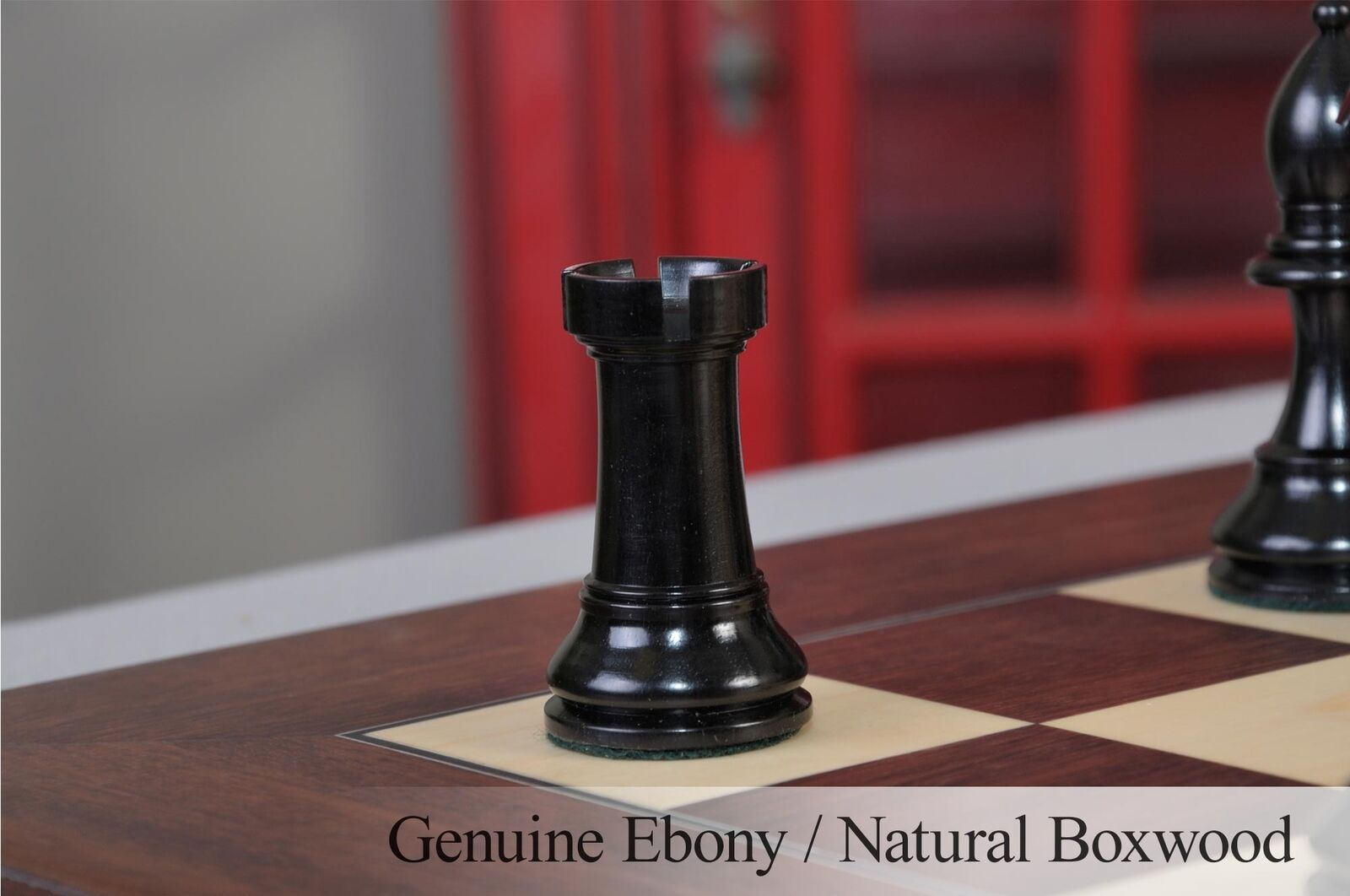 The Margate Chess Set - Pieces Only - 4.0    King - Genuine Ebony and Natural Boxw 9160ea