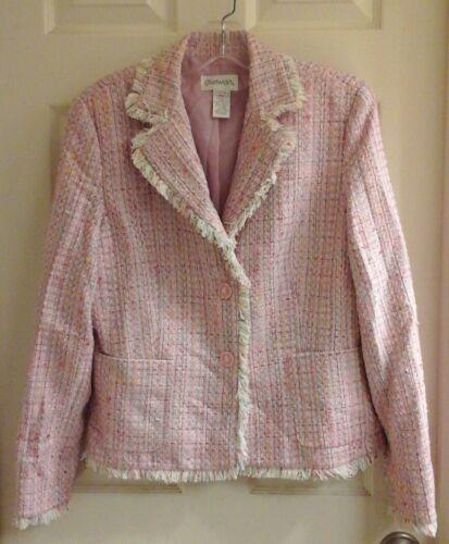 Chadwick, women's size 10 blazer,  pastel colors,