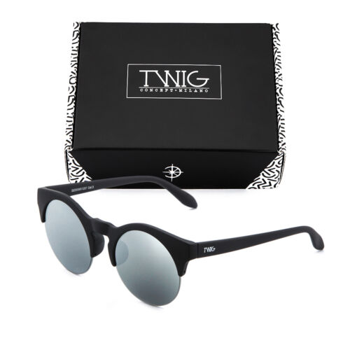 Sonnenbrille TWIG GORKY Rund Verspiegelt Herren//Damen Jahrgang Retro
