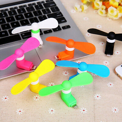 Mini Portable iPhone iPad Mobile Phone USB Lightning Power Fresh /& Cool Air Fan