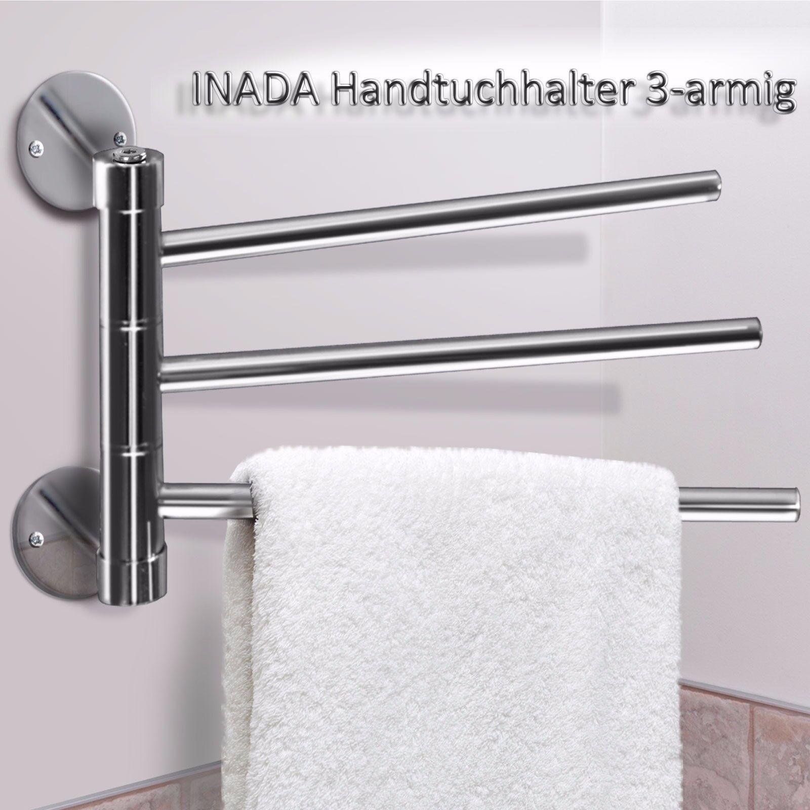 Wandhandtuchhalter Inada 3-armig BxTxH  35x5x18,5 cm Handtuchstange