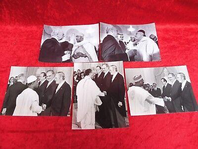 5 Alte Pressefotos__politik__staatsbesuche Aus Afrika__23x18__original Abzug _ Sammeln & Seltenes Verbraucher Zuerst