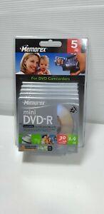 CINQ 5X Cassette Video mini DV Digital Neuve MEMOREX DVD-R 1.4GB 30Mn sealed