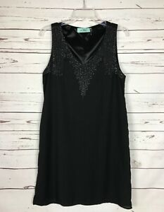 KARLIE-Boutique-Black-Sleeveless-Party-Holiday-Cocktail-Dress-Women-039-s-Sz-L-Large