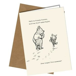 """4 x Disney Winnie the Pooh /& Friends Blank Cards with Envelopes  7/"""" x 5/"""""""