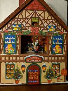 Christmas Advent House.Details About Mr Christmas Advent House Battery Operated Used