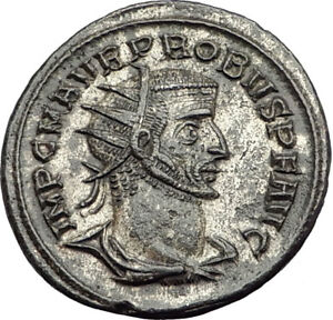 PROBUS-receiving-globe-from-Jupiter-276AD-Authentic-Ancient-Roman-Coin-i65133