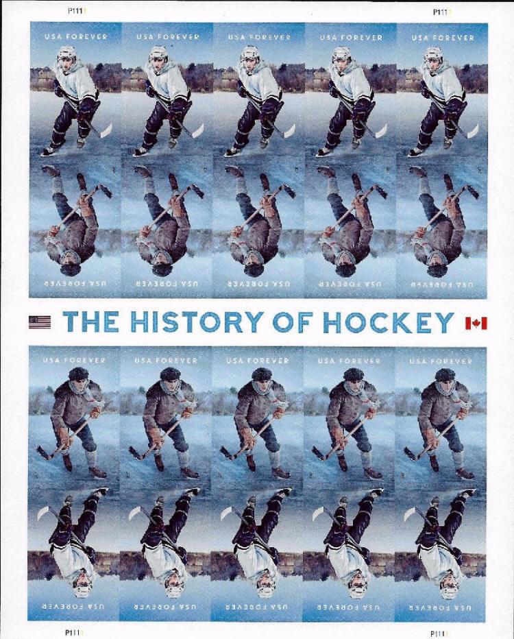 2017 49c The History of Ice Hockey, Sheet of 20 Scott 5