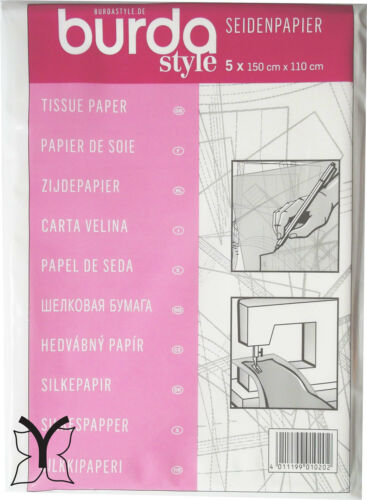 Sewing Pattern Embroidery Appliqué Craft Burda Dressmakers Tracing Tissue Paper