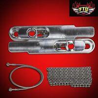 2001 Gsxr 750 Swingarm Extensions Kit 12 Long Stretch, Chain & 36 Brake Line