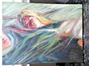 Helen-signed-original-2014-034-Woman-sleeping-034-oil-on-canvas-painting-EC