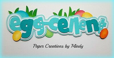 CRAFTECAFE MINDY EASTER EGGS DIECUT premade paper piecing TITLE  scrapbook page
