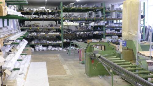 Rolladen Ersatz Lamellen Maßanfertigung PVC holzhell Breite 125 cm