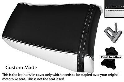 WHITE & BLACK CUSTOM FITS YAMAHA 1000 YZF 96-03 THUNDERACE REAR SEAT COVER