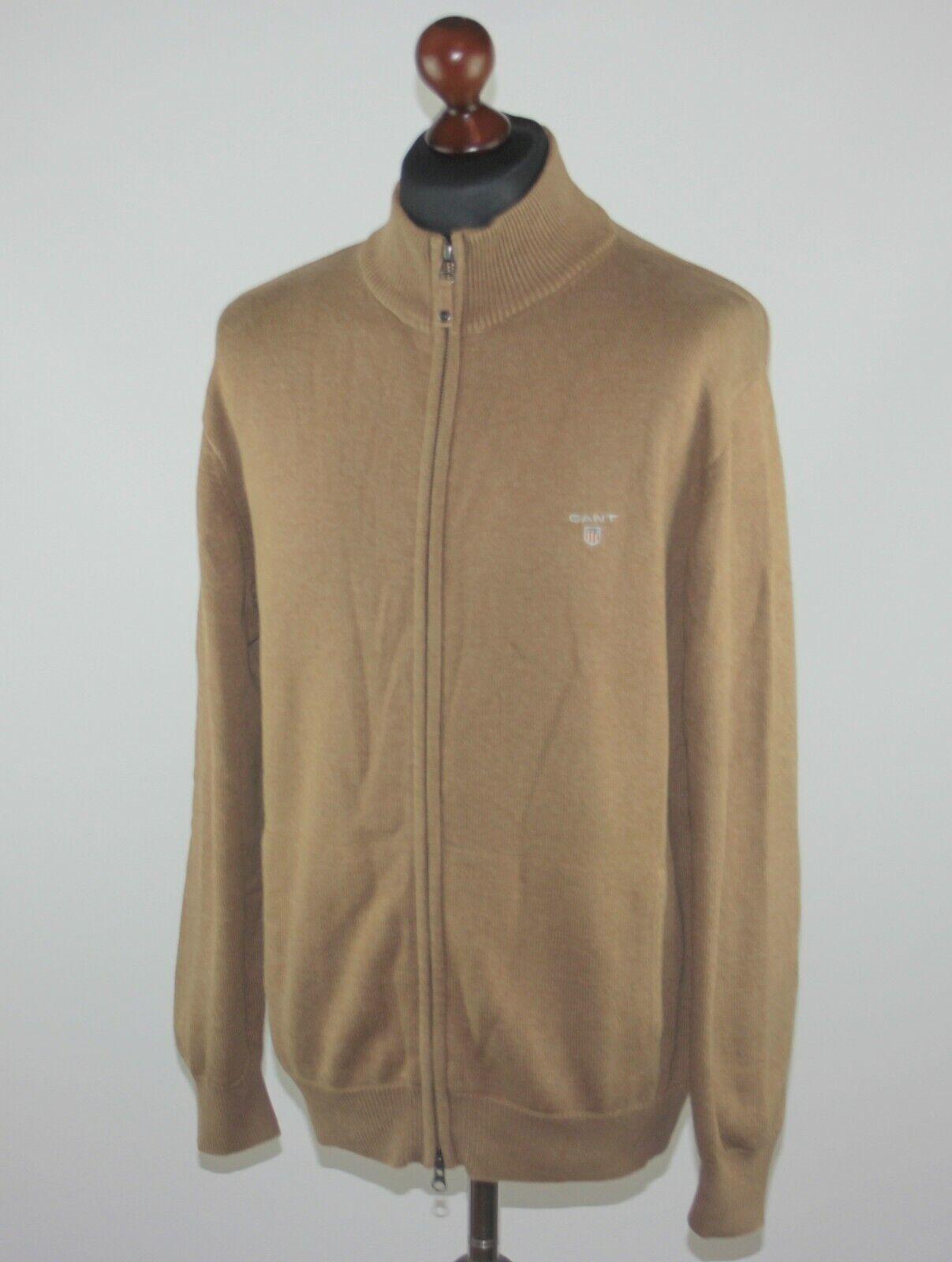 GANT mens braun full zip cotton jumper jacket Größe L