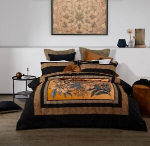 Logan & Mason Cheetah Quilt Cover Set Black