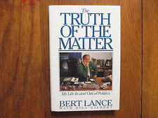 BERT  LANCE(Died-2013)Signed Book(THE TRUTH OF THE MATTER-1st Edit 1991 Hardback