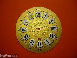 Cadran Laiton Décoré Pendule Zenith Horloge Zifferblatt Uhr Clock 15cm Dial P3 100% D'Origine