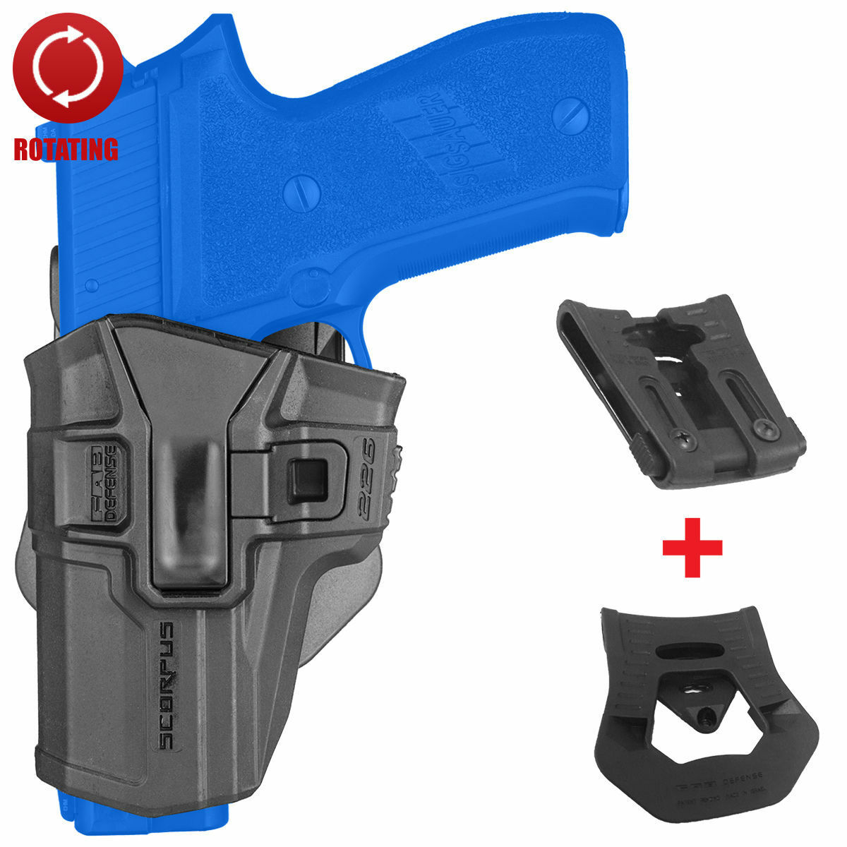 FAB Defense Level 1 redo LEFT Holster w  Swivel  for Sig Sauer P226 - 226 S LH