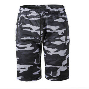 Mens Military Camouflage Cargo Army Camo Rude Loose Elastic Shorts Pants TP9861